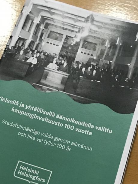 Sata vuotta yleisillä ja yhtäläisillä vaaleilla valitun kaupunginvaltuuston ensimmäisestä kokoontumisesta, puhe Helsingin kaupunginvaltuuston juhlatilaisuudessa