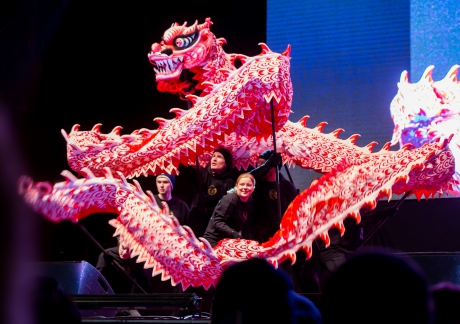 Puhe kansalaistorilla kiinalaisen uuden vuoden juhlassa